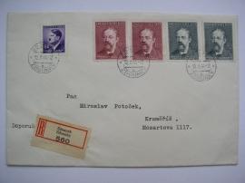 Dopis s výplatními známkami