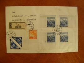 Dopis s doručníma známkama