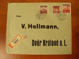Dopis s přetiskovým provizoriem