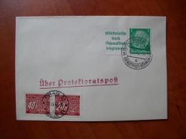 Dopis s doplatními známkami
