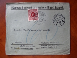 Dopis s předběžnou známkou č.