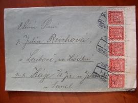 Dopis s předběžnými známkami