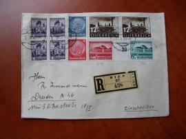 Dopis se smíšenými známkami