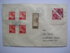 Dopis s doručními známkami