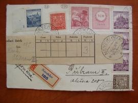 Dopis se souběžnými známkami