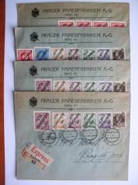 Dopisy - přetisk 1919